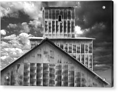 Burns Elevator South Side Bw Acrylic Print