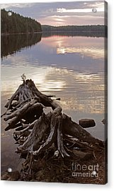 Burnt Island Lake Sunset Acrylic Print by Chris Hill