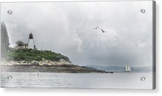Burnt Island Light Acrylic Print by Lori Deiter