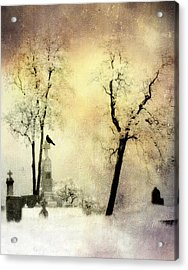 Burnt Sky Acrylic Print by Gothicrow Images