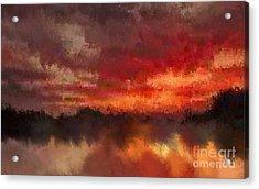 Burnt Sunset Acrylic Print