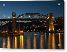 Burrard Bridge In The Evening Acrylic Print