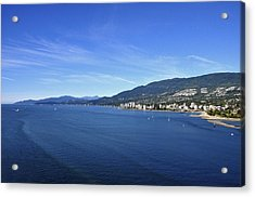 Burrard Inlet Vancouver Acrylic Print by Aged Pixel
