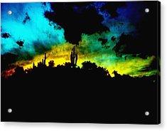 Burro Sunset Abstract Acrylic Print by Alfredo Martinez