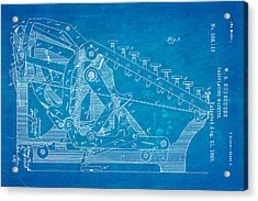 Burroughs Calculating Machine Patent Art 2 1888 Blueprint Acrylic Print