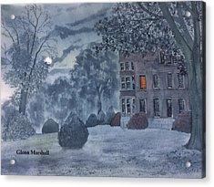 Burton Agnes Nocturne Acrylic Print