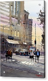 Bus Stop - Chicago Acrylic Print