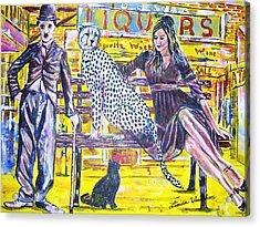 Bus Stop Acrylic Print by Linda Vaughon