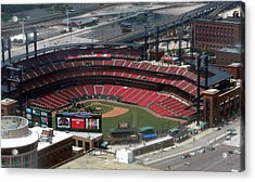 Busch Memorial Stadium Acrylic Print by Thomas Woolworth