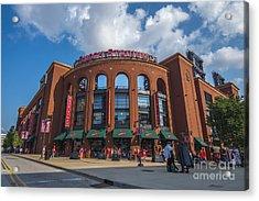 Busch Stadium Clouds Acrylic Print