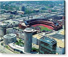 Acrylic Print featuring the photograph Busch Stadium From The Top Of The Arch by Janette Boyd