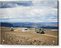 Acrylic Print featuring the photograph Buses Of Landmannalaugar by Peta Thames