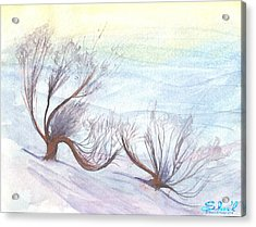 Dancing In The Snow Acrylic Print