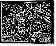 Bushveld Indaba Acrylic Print by Caroline Street