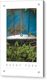 Acrylic Print featuring the digital art Bushy Park Beautifully Distressed Poster by David Davies