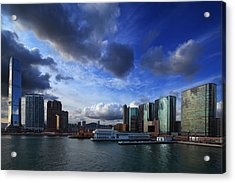 Acrylic Print featuring the photograph Business Harbour by Afrison Ma