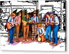 Busker Band Acrylic Print