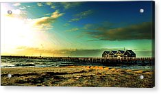 Acrylic Print featuring the photograph Busselton Jetty by Yew Kwang