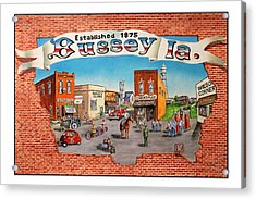 Bussey Mural Acrylic Print by Todd Spaur