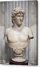 Bust Of Antinous Acrylic Print by Roberto Morgenthaler