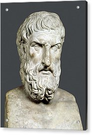 Bust Of Epicurus. 1st Half 4th Bc Acrylic Print by Everett