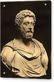 Bust Of Marcus Aurelius 121-80 Ad Marble Acrylic Print by English Photographer