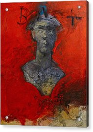 Acrylic Print featuring the painting Bust Ted - With Sawdust And Tinsel  by Cliff Spohn