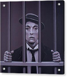 Buster Keaton Painting Acrylic Print