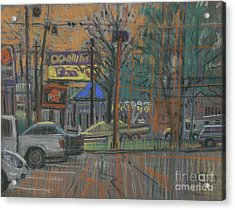 Acrylic Print featuring the painting Busy Day by Donald Maier