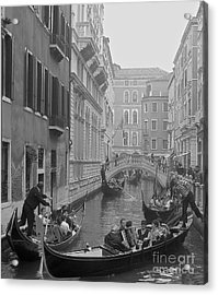 Busy Day In Venice Acrylic Print