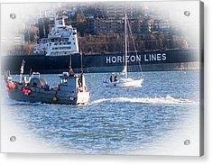 Busy Harbor Acrylic Print