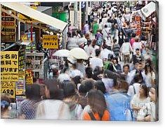 Busy Takeshita Dori Acrylic Print