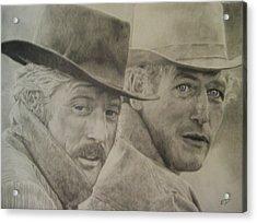 Butch Cassidy And The Sundance Kid Acrylic Print by Robbie Douglas