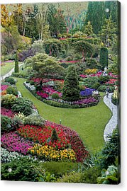 Butchart Gardens Acrylic Print