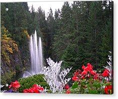 Butchart Gardens Fountain Acrylic Print