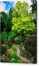 Butchart Gardens Pathway Acrylic Print by Inge Johnsson