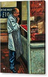 Butchers Profit Acrylic Print by Peter Jackson