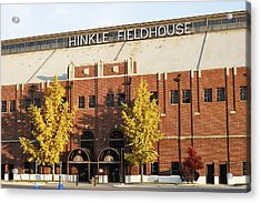 Butler Bulldogs Hinkle Fieldhouse In The Fall Acrylic Print by Replay Photos