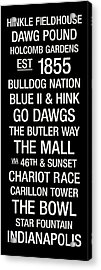 Butler College Town Wall Art Acrylic Print by Replay Photos