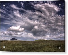 Butte In The Shadows Acrylic Print
