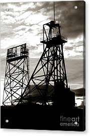 Butte Montana Headframe Acrylic Print by David Bearden