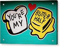 Butter Half Acrylic Print