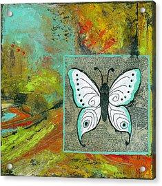 Butterflies Are Free Acrylic Print by Blenda Studio