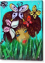 Butterflies At Play Acrylic Print by Ohso Faboolus
