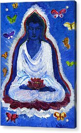 Butterflies Dream Of Buddha Acrylic Print