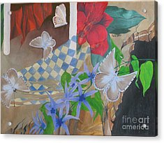 Butterflies In The Breeze Acrylic Print by Richard Dotson