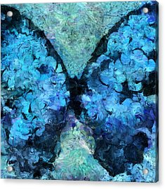 Butterfly Art - D11bl02t1c Acrylic Print by Variance Collections