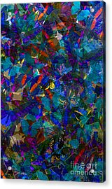 Acrylic Print featuring the photograph Butterfly Collage Blue by Robert Meanor
