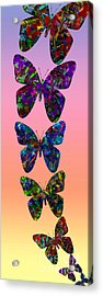 Acrylic Print featuring the photograph Butterfly Collage IIII by Robert Meanor