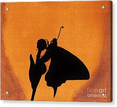 Acrylic Print featuring the drawing Butterfly by D Hackett